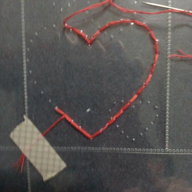 Large heart in progress