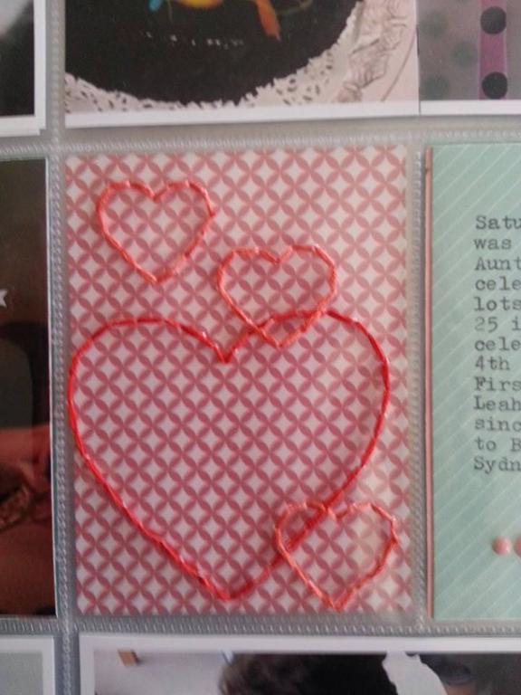 Week 8 stitched hearts