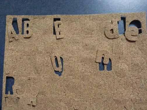 First cork sheet