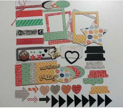 Project life jade with washi