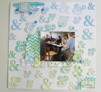 Ampersand watercolour layout full