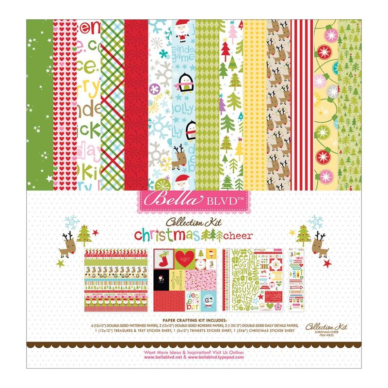 Bella blvd christmas cheer colection kit 12x12