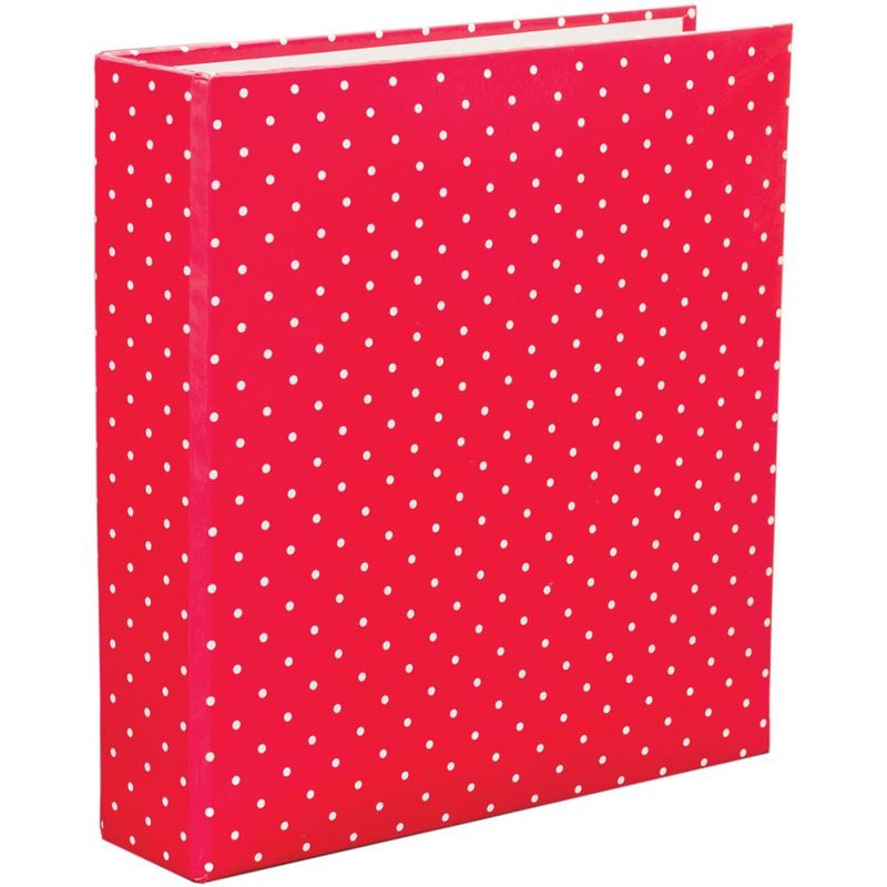 PL red polka dot 6x8 album