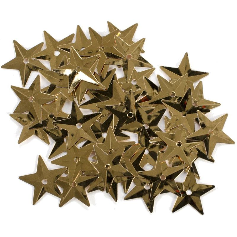 Large gold star sequins