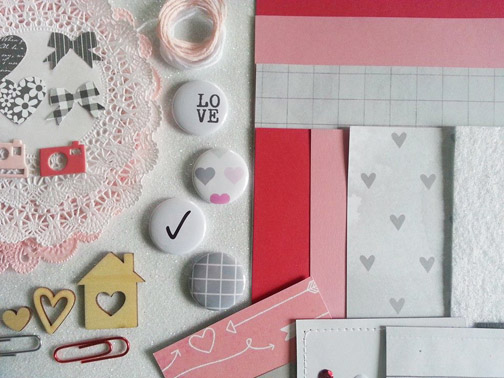 Valentines 2015 kit flair close ups for The stamp Spot