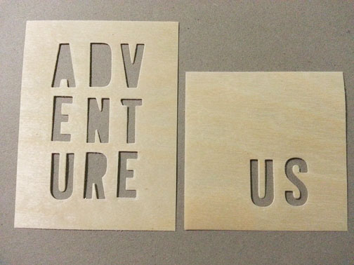 Wood veneer die cuts for The Stamp Spot