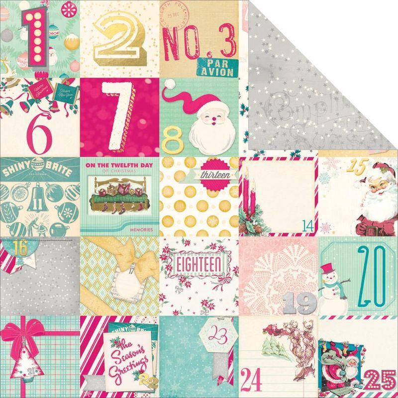 Bo bunny candy cane lane countdown 12x12