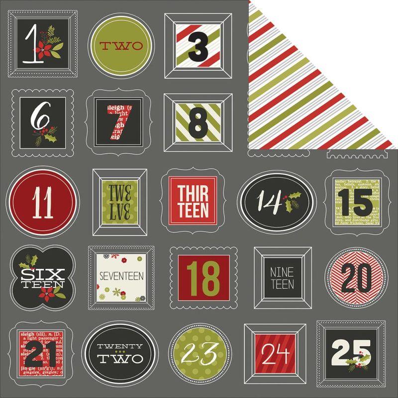 Simple stories diy countdown 12x12