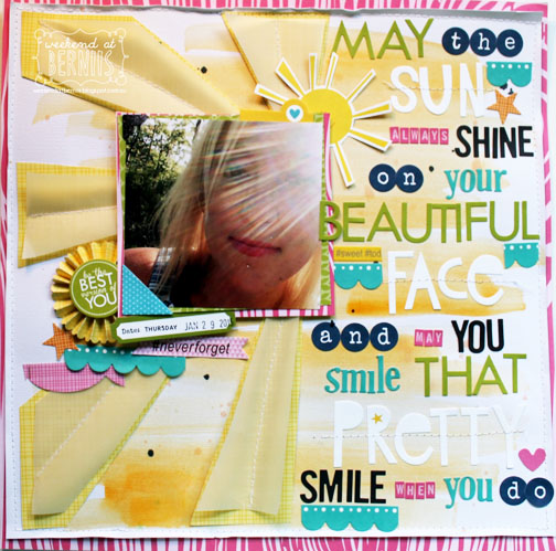 May the Sun Shine by Bernii Miller for The Stamp Spot