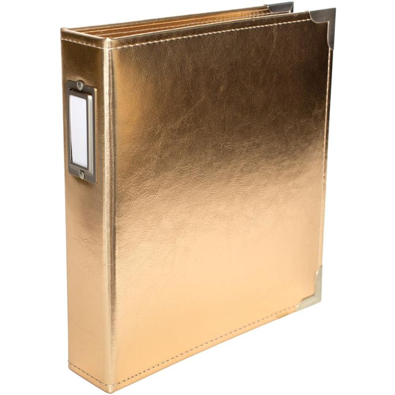 Pl 6x8 faux leather gold album