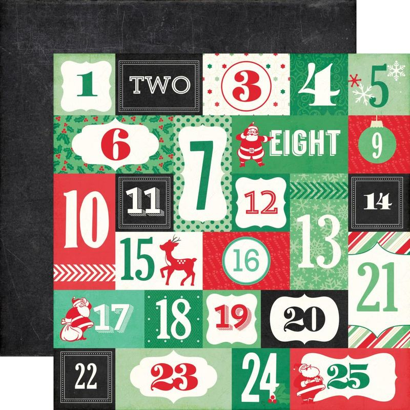 Echo park paper countdown to christmas 12x12