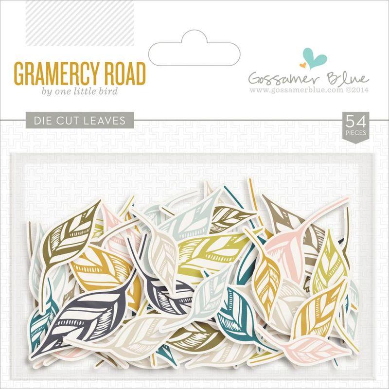 Gramercy road die cut leaves
